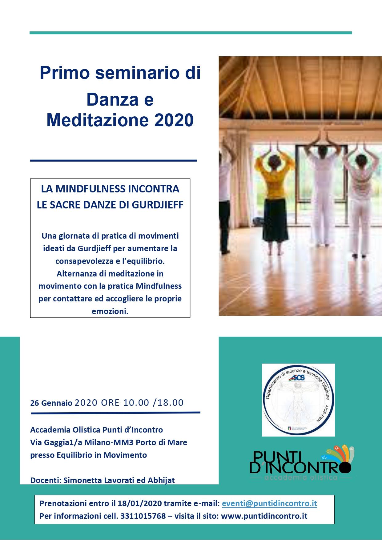 Primo seminario 2020 di Danza e Meditazione