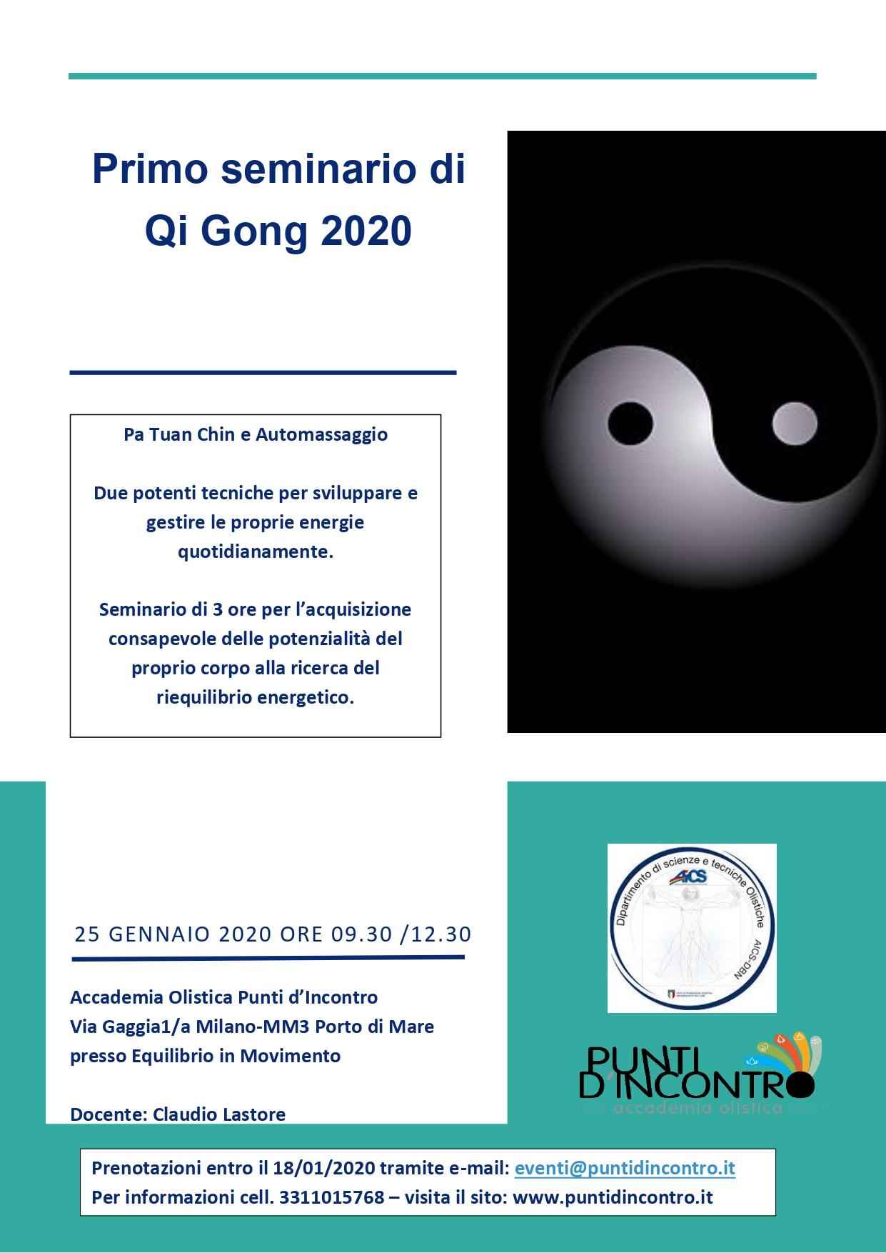 Primo seminario 2020 di Qi Gong