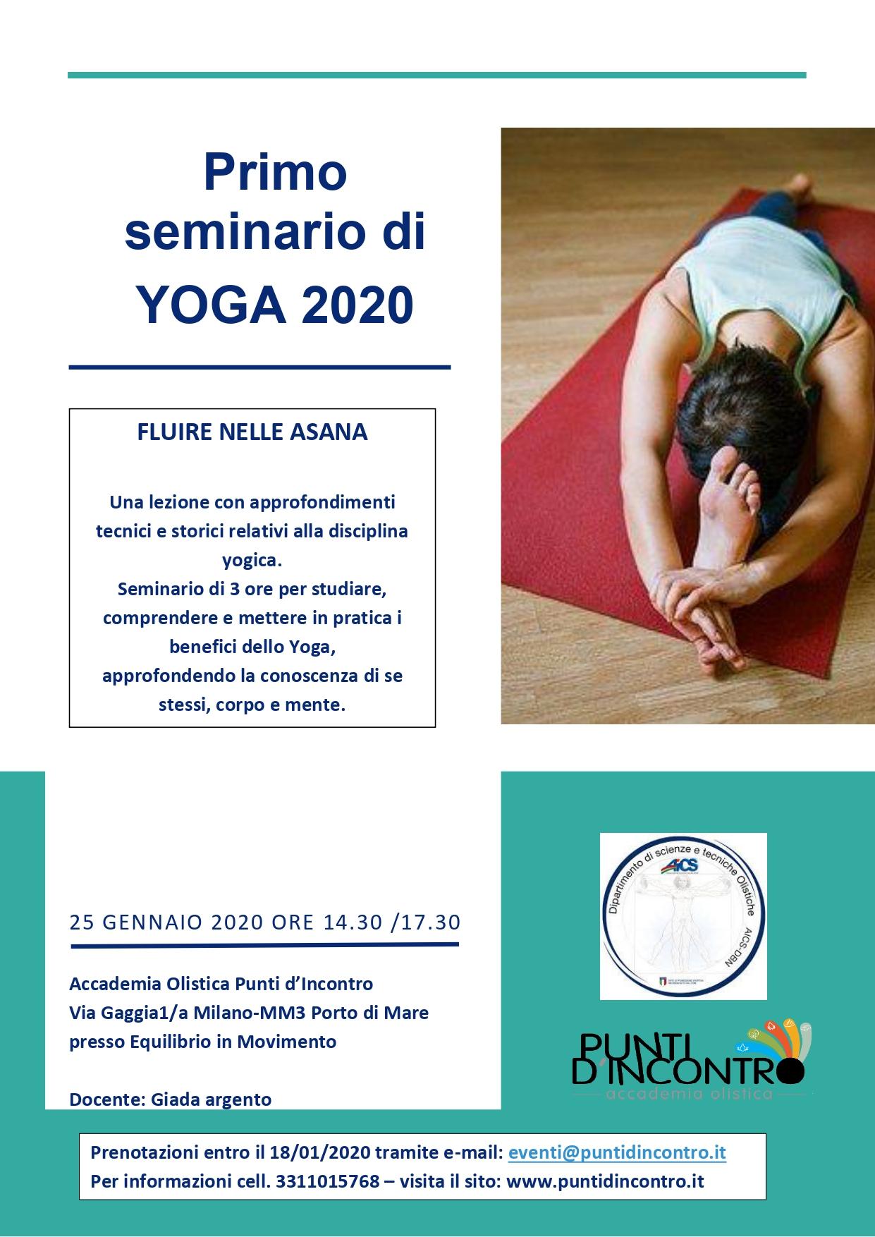 Primo seminario di Yoga: Fluire nelle Asana